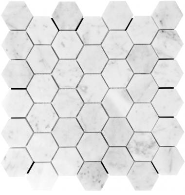 Hexagonal Carrara Mosaic