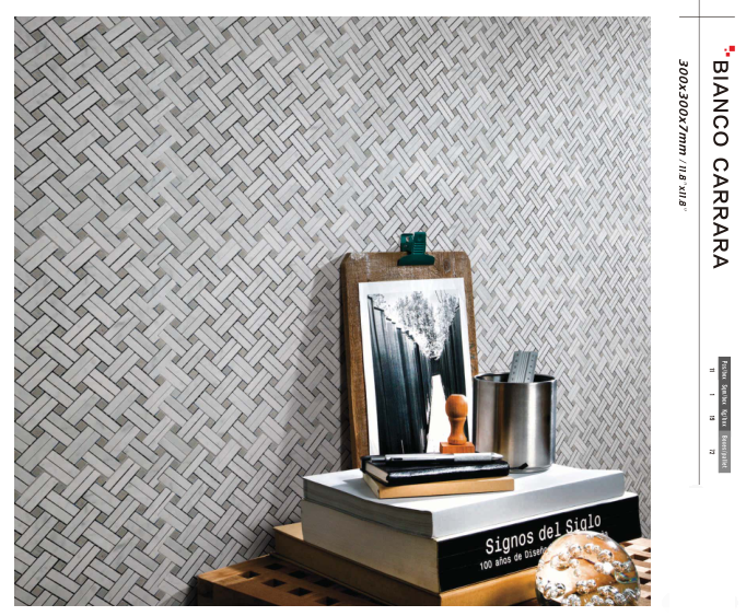 Carrara Mosaic Basketweave
