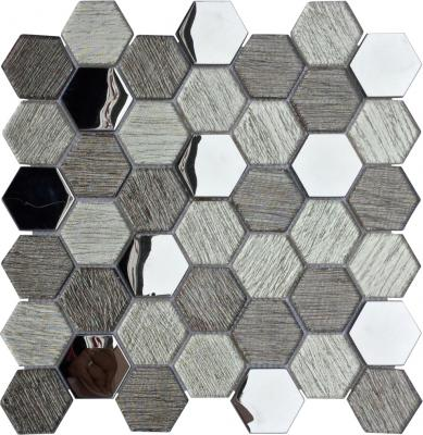 Hexagonal Design glass mosaic