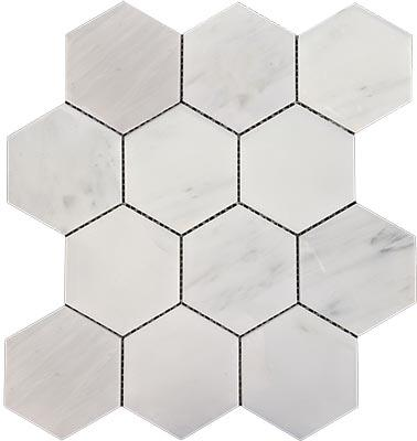 China White Marble Mosaic