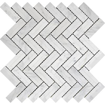 herringbone mosaic tiles