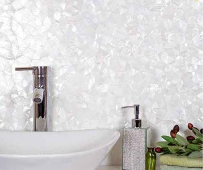 mother of pearl backsplash tile