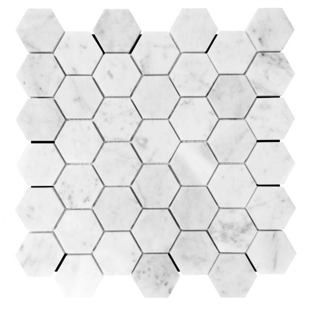 Carrara White Hexagon Natural Stone Marble Mosaic Tile for Wall or Floor