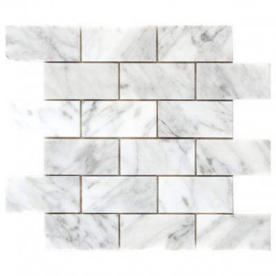 square carrara marble bevel kitchen wall tiles