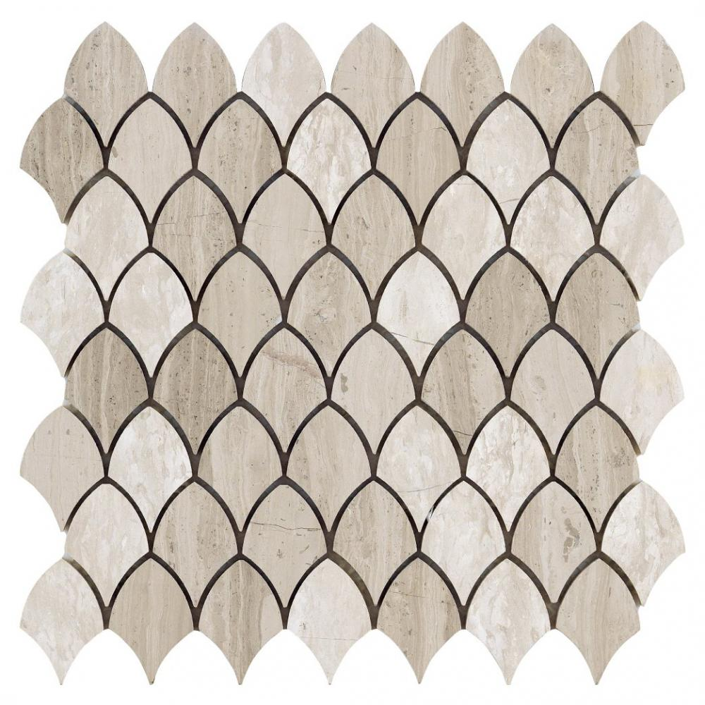 wholesales thossos white and athens marble mosaic shield marble mosaic tile