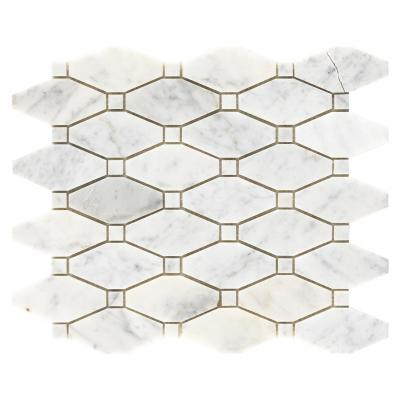 Restaurant non-slip kitchen floor tiles matt glazed white ceramic octagon mosaic tile