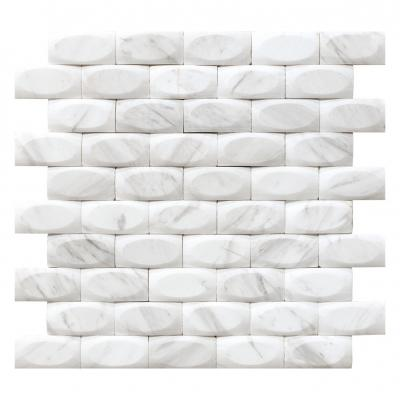 white mosaic tile 3d wall  home decor antique stone mosaic tiles