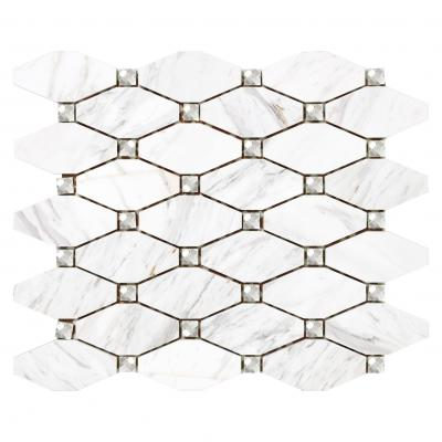 Premium Glossy Glazed octag Shape Wall  Porcelain Tile Mosaic For Modern Backsplash Bathroom Kitchen Commercial Project