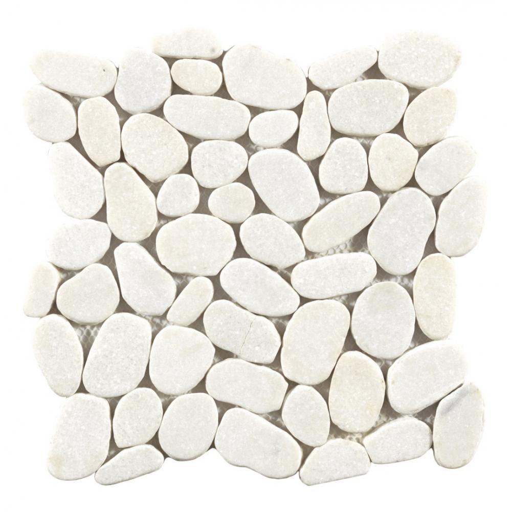 white and grey pebble stone marble mosaic for home decor mosaic tiles