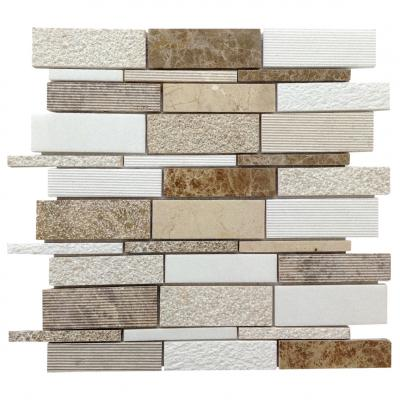 stripe mix stone mosaic tiles for kitchen
