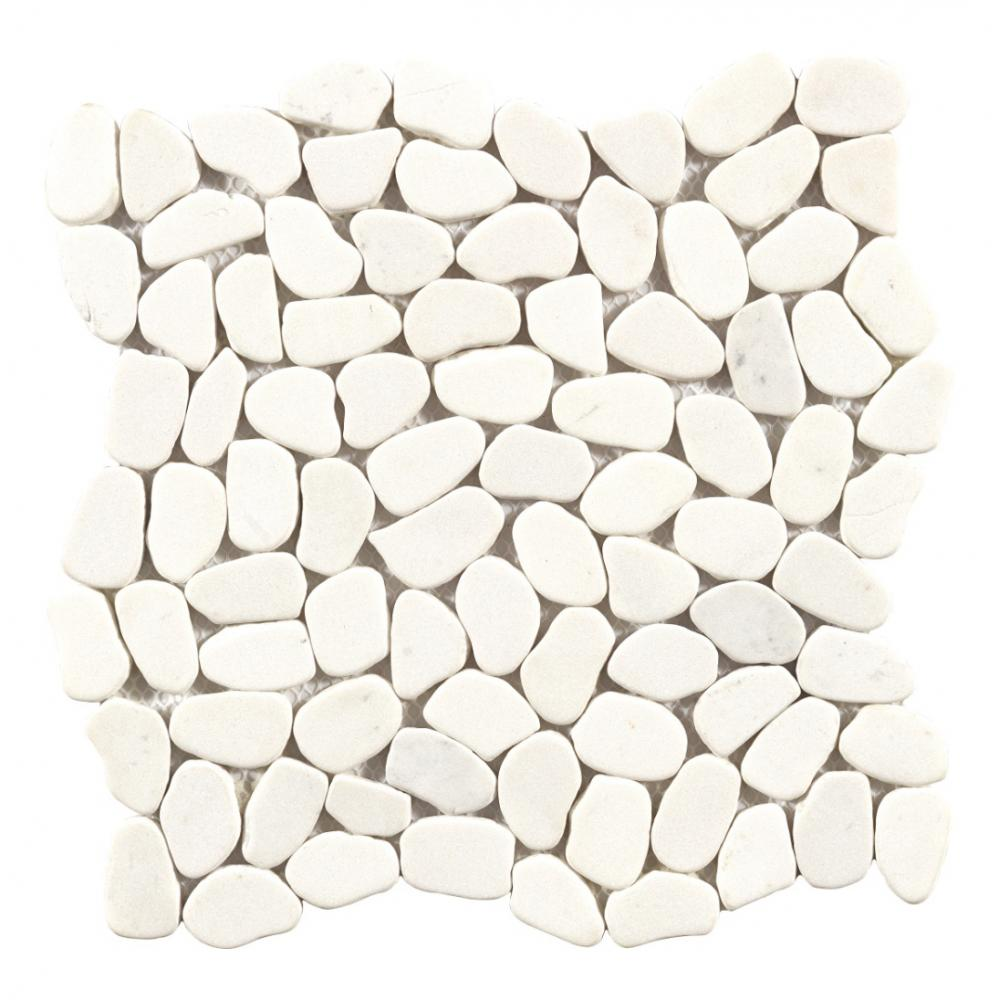 white and black Marble Circle Mosaic Pebble Stone Mosaic With Floor Wall Tiles Design