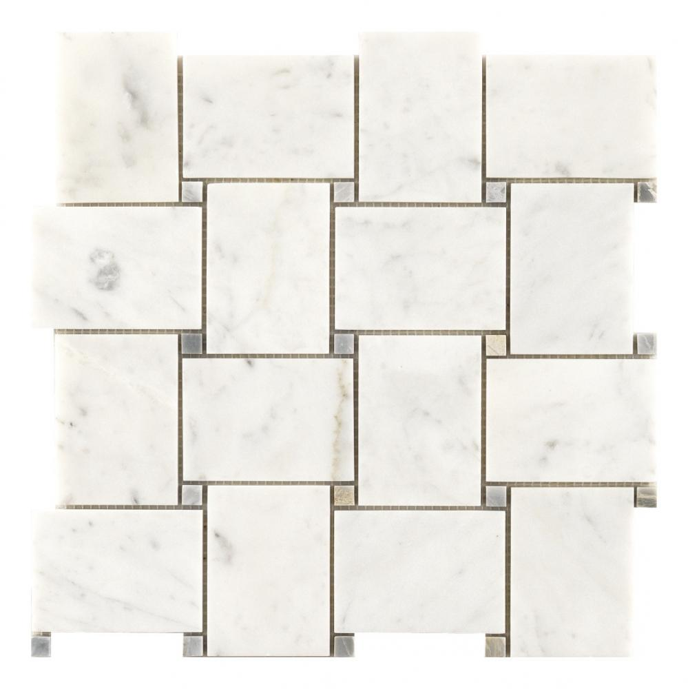 Classical design carrara basket woven marble mosaic Floor