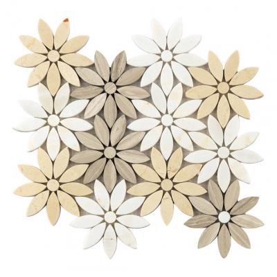 Factory Supply Mixed Color Customized Flower Pattern Mosaic Tile