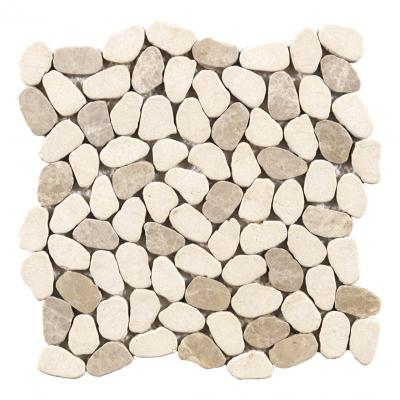BEIGE MIXED pebble stone marble mosaic for home decor mosaic tiles