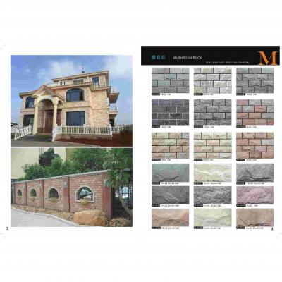 interior stone wall clad Drak Grey 3D Culture stone Panel basalt wall cladding stone