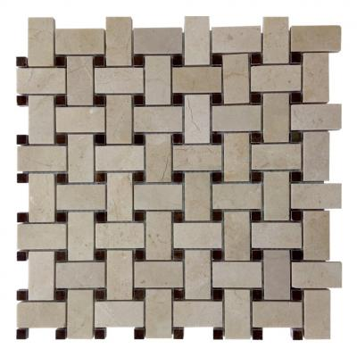 khaki stacked cinderella and hero black ceramic mosaic tiles for bathroom hardness