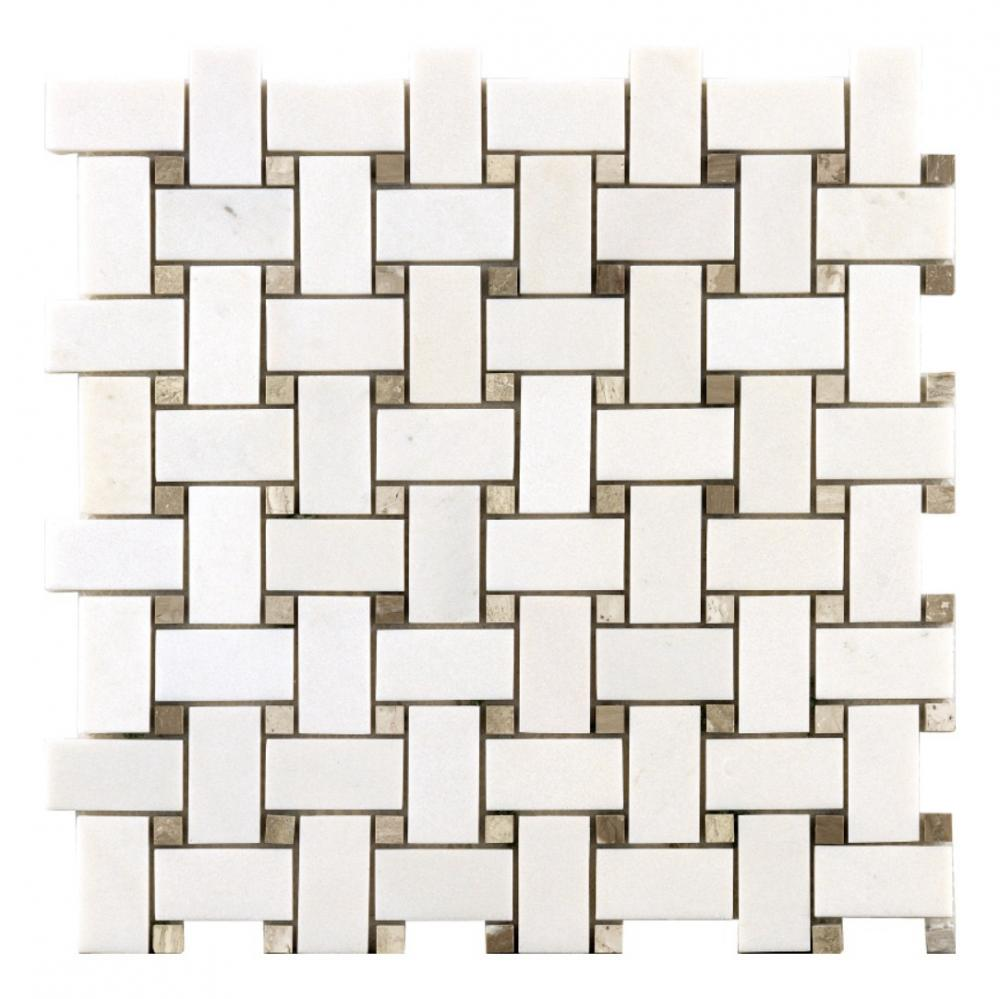 china white and grey wood stone wall tile marble mosaic