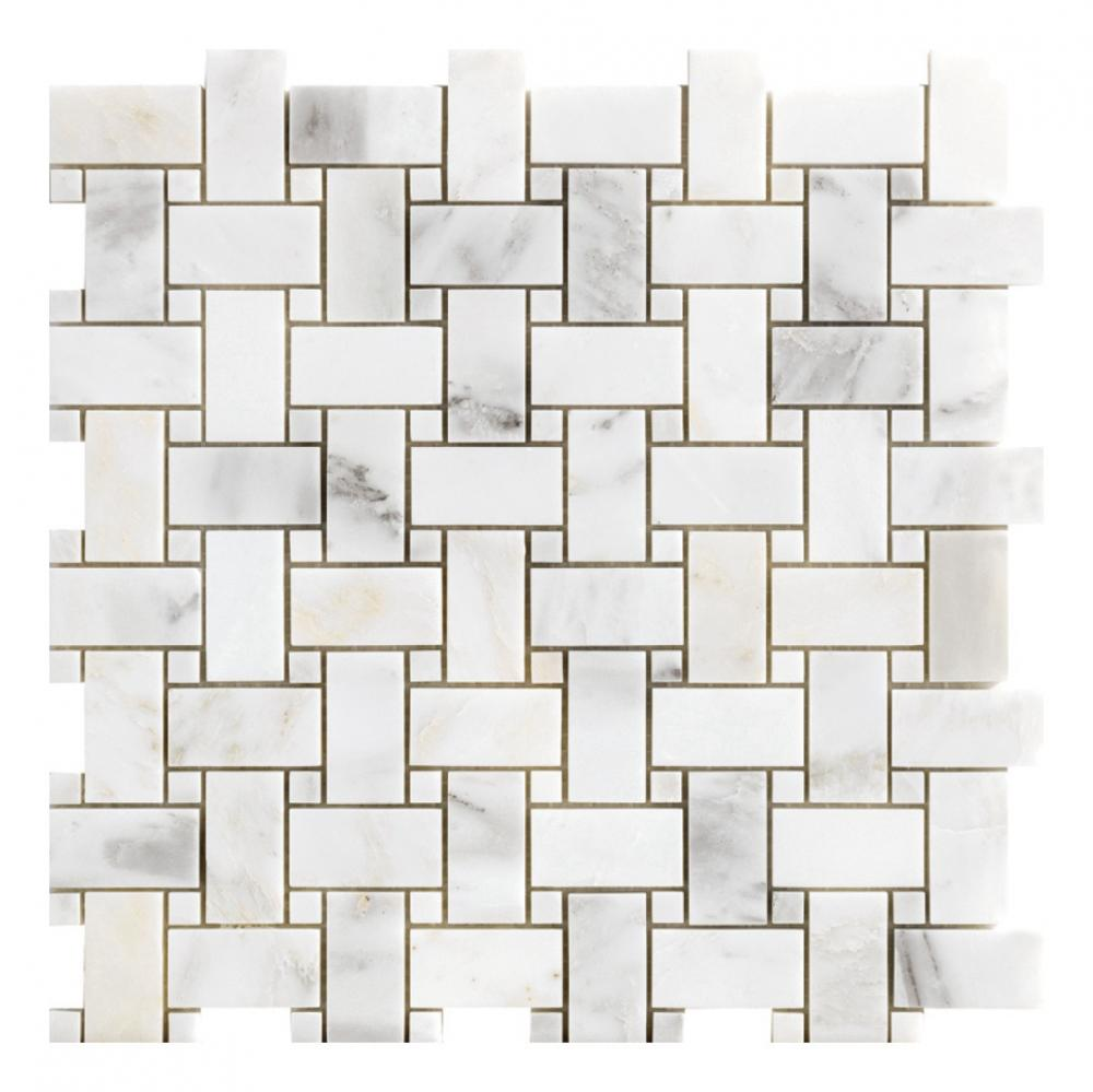 Nature Marble Tiles Bathroom Stone Floor Tiles bianco carrara and nero black Stone Mosaic Tiles for Home Hotel