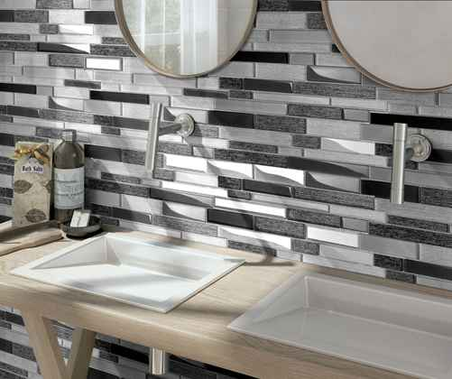 How to install mosaic tile in the showeroom