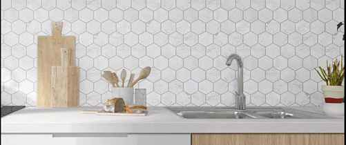 Hexagon Marble Mosaic Tile