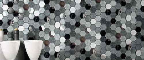 Hexgonal Glass Mosaic Tile Silk Road